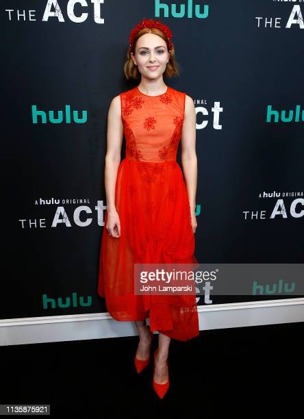 Anna Sophia Robb attends The Act New York Premiere at The Whitby Theater on March 14 2019 in New York City