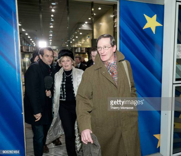 Anna Soubry and Dominic Grieve leave the Berlaymont building headquarters of the European Commission after a meeting with Chief Brexit Negotiator...
