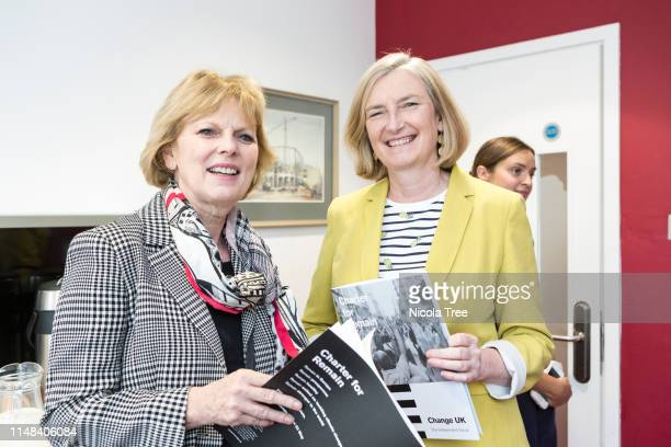 Anna Soubry and Sarah Wollaston at Change UK The Independent Group's West Midlands election rally on May 10 2019 in Birmingham United Kingdom