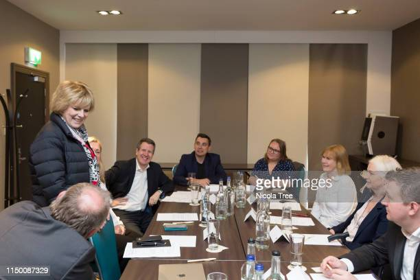Anna Soubry Chris Leslie Gavin Shuker and the MEP candidates for Scotland at Change UK The Independent Group's Edinburgh European election rally on...