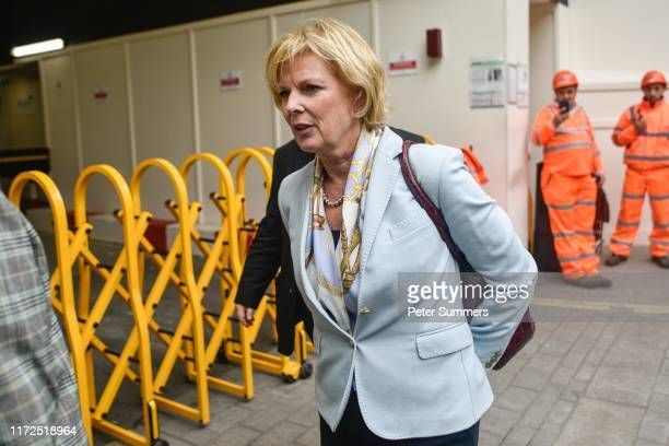 Anna Soubry MP arrives for cross party talks on September 30 2019 in London England Opposition party leaders are meeting in Westminster to discuss...