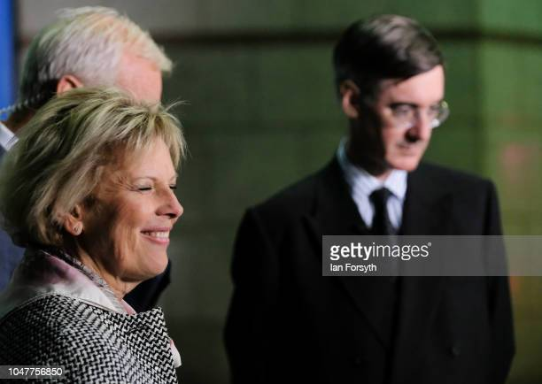Anna Soubry MP for Broxtowe and Jacob Rees Mogg MP for North East Somerset meet during a Channel 4 news television interview with Jon Snow on day two...