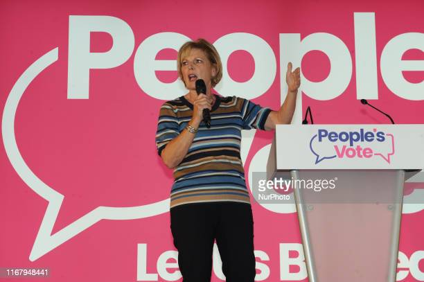 Anna Soubry MP for Change UK during the Wales for Europe Rally at the Neon Arena Newport on Friday 13th September 2019