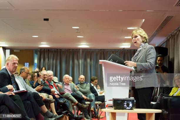 Anna Soubry MP speaking at Change UK The Independent Group's West Midlands election rally on May 10 2019 in Birmingham United Kingdom