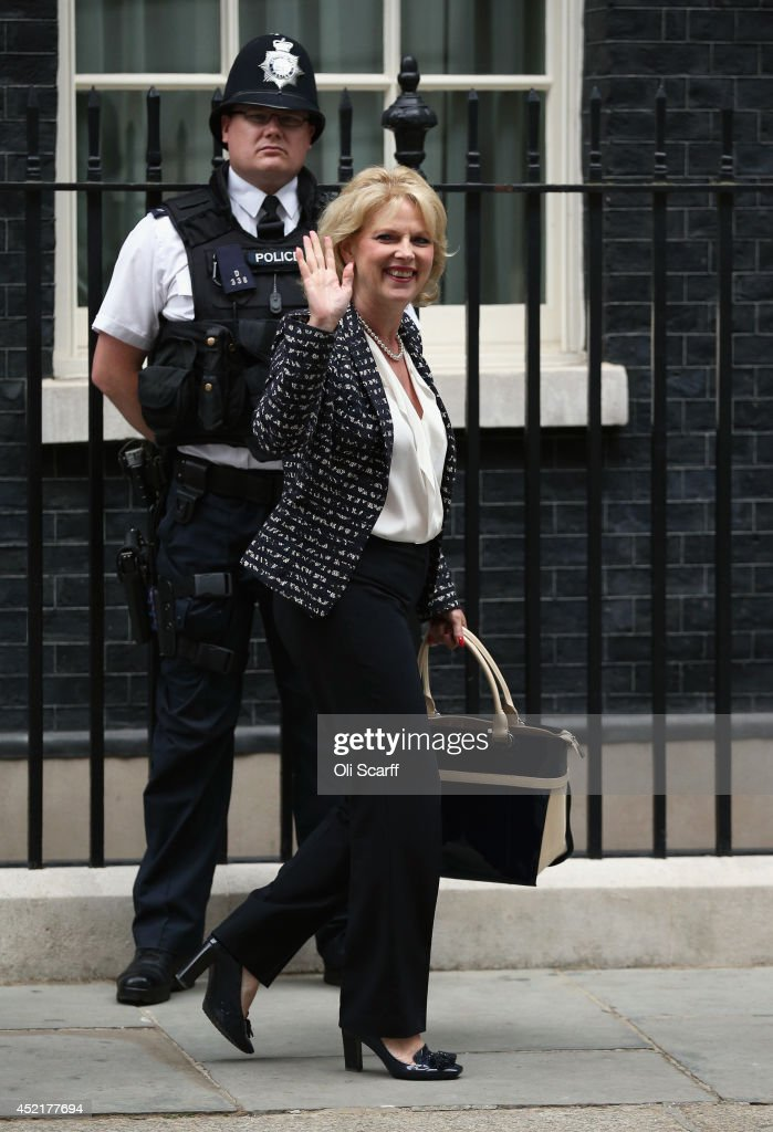 Anna Soubry, the new Minister of State at the Ministry of Defence, departs Downing Street on July 15, 2014 in London, England. British Prime Minister David Cameron is conducting a reshuffle of his Cabinet team with a greater number of women expected to be appointed to senior positions.