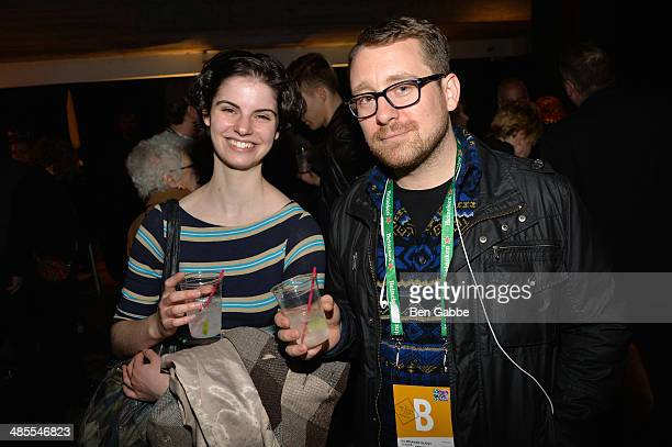 Anna Storm and producer Winslow Porter of 'Clouds' attend the Documentary Press Meet And Greet during the 2014 Tribeca Film Festival at Tribeca Film...