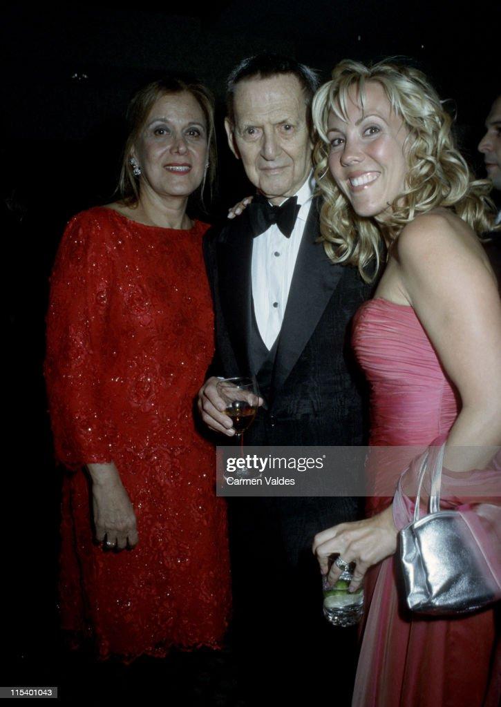 Anna Strasberg, Tony Randall, and wife Heather Harlan