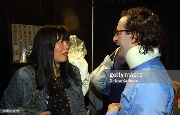 Anna Sui and Marc Jacobs during MercedesBenz Fashion Week Spring 2004 Marc Jacobs Backstage at New York State Armory in New York City New York United...