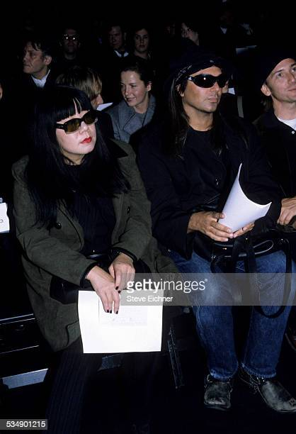 Anna Sui and Steven Meisel at Marc Jacobs Fashion Show New York November 3 1997