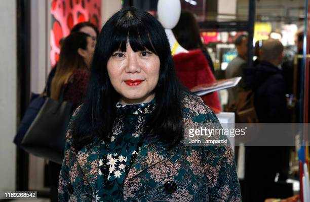 Anna Sui attends ShopBAZAAR x The Conservatory Bright Spot Holiday Party at The Shops at Hudson Yards on November 21 2019 in New York City