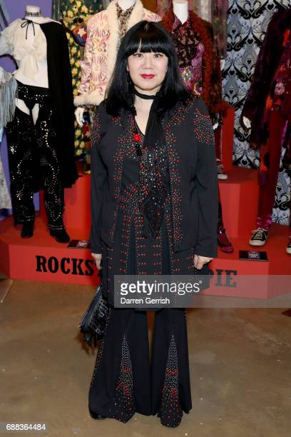 Anna Sui attends the World of Anna Sui Exhibition Private View at the Fashion and Textile Museum on May 25 2017 in London England