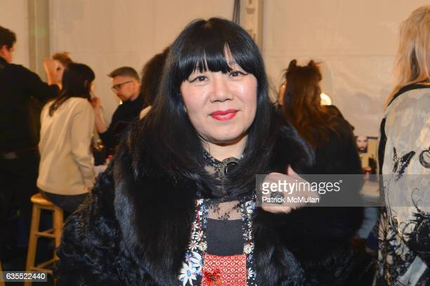 Anna Sui backstage at Anna Sui Fall/Winter 2017 Show during New York Fashion Week The Shows on February 15 2017 in New York City
