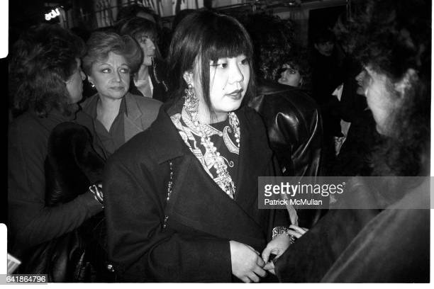 Anna Sui talking with Annie Flanders at the Opening of Le Chateau Wednesday March 5 1986