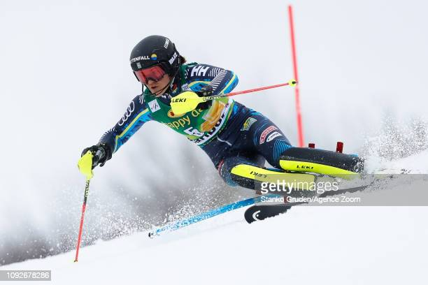 Anna Swenn Larsson of Sweden competes during the Audi FIS Alpine Ski World Cup Women's Slalom on February 2 2019 in Maribor Slovenia