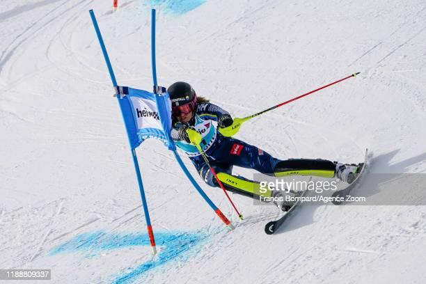 Anna Swenn Larsson of Sweden competes during the Audi FIS Alpine Ski World Cup Women's Parallel Slalom on December 15 2019 in St Moritz Switzerland