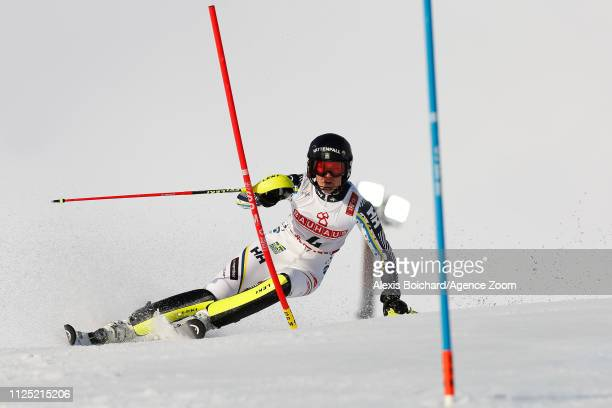 Anna Swenn Larsson of Sweden competes during the FIS World Ski Championships Women's Slalom on February 16 2019 in Are Sweden