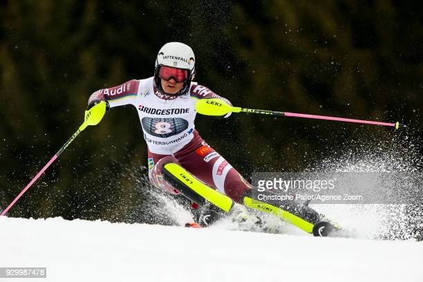 Anna Swennlarsson of Sweden competes during the Audi FIS Alpine Ski World Cup Women's Slalom on March 10 2018 in Ofterschwang Germany