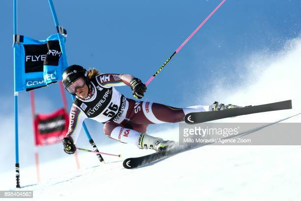 Anna Swennlarsson of Sweden in action during the Audi FIS Alpine Ski World Cup Women's Giant Slalom on December 19 2017 in Courchevel France