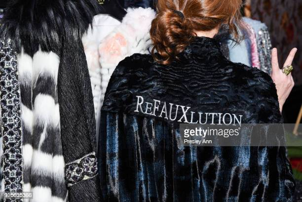 Anna Tagliabue attends Leesa Rowland's Animal Ashram PopUp Penthouse on February 7 2018 in New York City