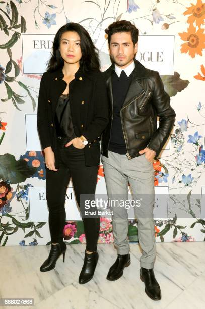 Anna Tai and Martin Salomon Jr attends the ERDEM X HM Exclusive Event at HM Flagship Fifth Avenue Store on October 24 2017 in New York City