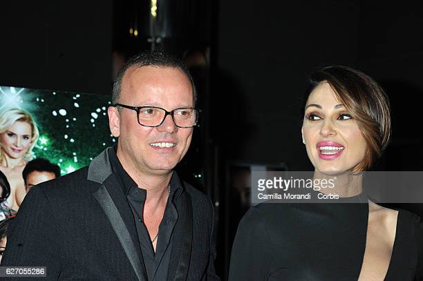 Anna Tatangelo and Gigi D'Alessio attend 'Un Natale Al Sud' Red Carpet In Rome on December 1 2016 in Rome Italy