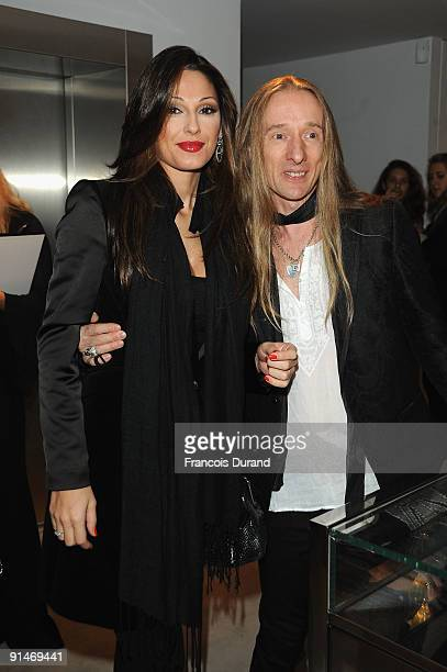 Anna Tatangelo and John Richmond attend John Richmond Cocktail as part of the Paris Womenswear Fashion Week on October 5 2009 in Paris France