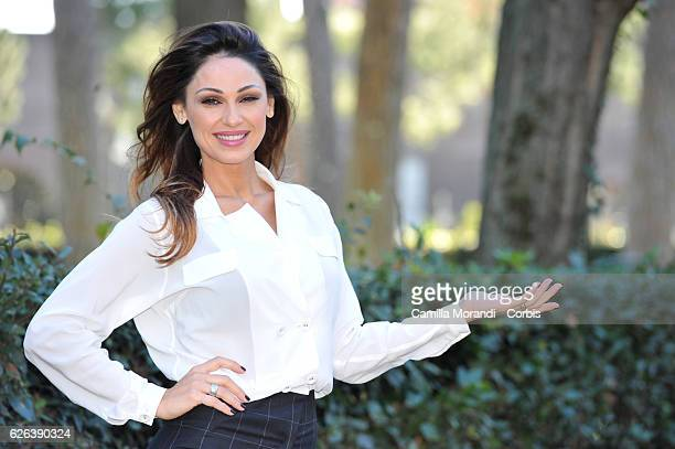 Anna Tatangelo attends a photocall for 'Natale Al Sud' on November 29 2016 in Rome Italy