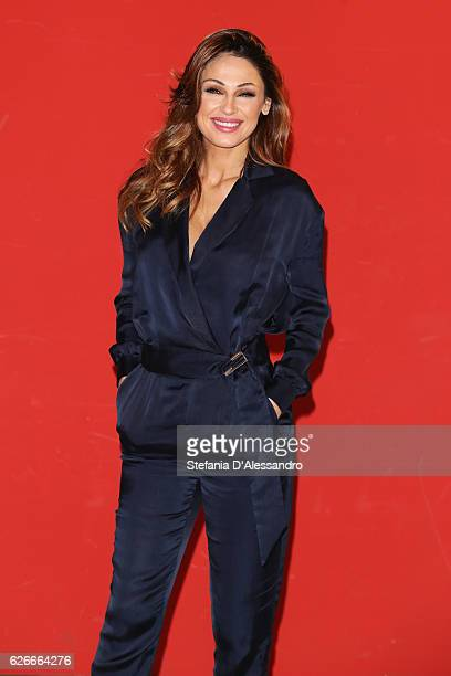 Anna Tatangelo attends a photocall for 'Un Natale Al Sud' on November 30 2016 in Milan Italy