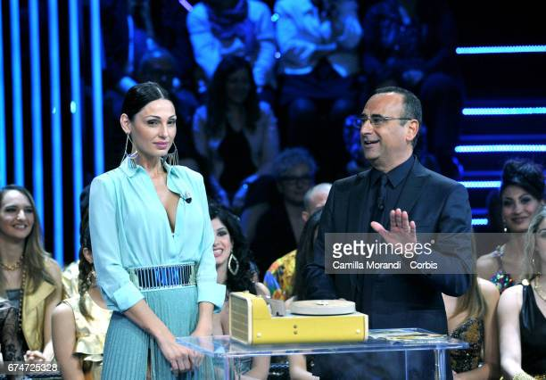 Anna Tatangelo attends 'I Migliori Anni' Tv Show on April 28 2017 in Rome Italy