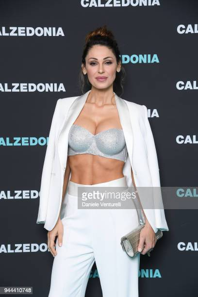 Anna Tatangelo attends the Calzedonia Summer Show on April 10 2018 in Verona Italy