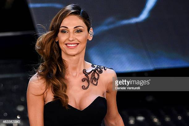 Anna Tatangelo attends the Fourth night of 65th Festival di Sanremo 2015 at Teatro Ariston on on February 13 2015 in Sanremo Italy