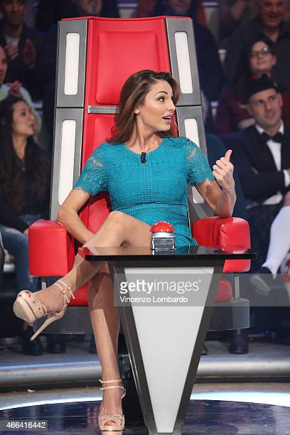 Anna Tatangelo attends the 'Quelli Che Il Calcio' Tv Show on March 15 2015 in Milan Italy