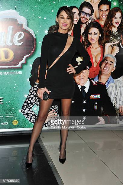 Anna Tatangelo attends 'Un Natale Al Sud' Red Carpet In Rome on December 1 2016 in Rome Italy