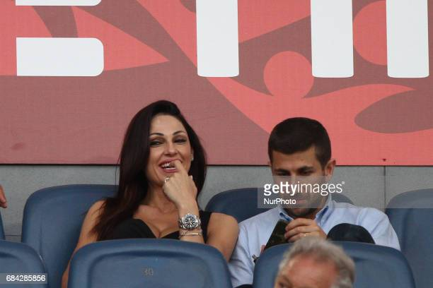 Anna Tatangelo during the Coppa Italia final football match JUVENTUS LAZIO on at the Stadio Olimpico in Rome Italy