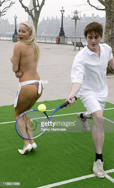 Anna Taverner during Sega's Virtua Tennis 3 Launch Photocall at Queens Walk in London Great Britain