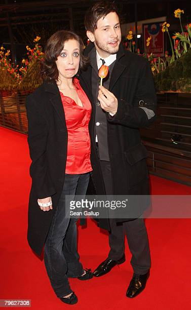 Anna Thalbach and Clemens Schick attends the Opening Ceremony as part of the 58th Berlinale Film Festival at the Berlinale Palast on February 7 2008...