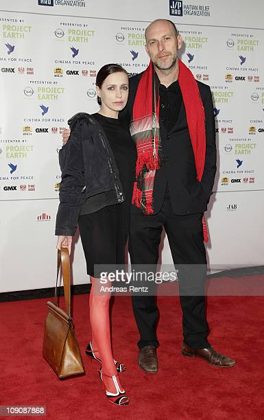 Anna Thalbach and guest attend the Cinema for Peace Gala at the Konzerthaus Am Gendarmenmarkt during day five of the 61st Berlin International Film...