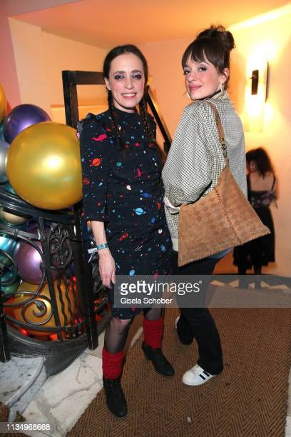 Anna Thalbach and her daughter Nellie Thalbach during the PLACE TO B Berlinale party of BILD at Borchardt Restaurant on February 9 2019 in Berlin...