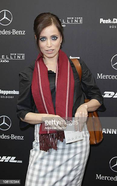 Anna Thalbach arrives at the Lala Berlin Show during the Mercedes Benz Fashion Week Autumn/Winter 2011 at Bebelplatz on January 19 2011 in Berlin...