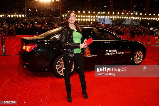 Anna Thalbach arrives at the 'The Grandmaster' Premiere - BMW at the 63rd Berlinale International Film Festival at the Berlinale Palast on February...