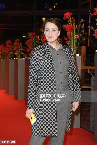 Anna Thalbach attends the 'Django' premiere during the 67th Berlinale International Film Festival Berlin at Berlinale Palace on February 9, 2017 in...
