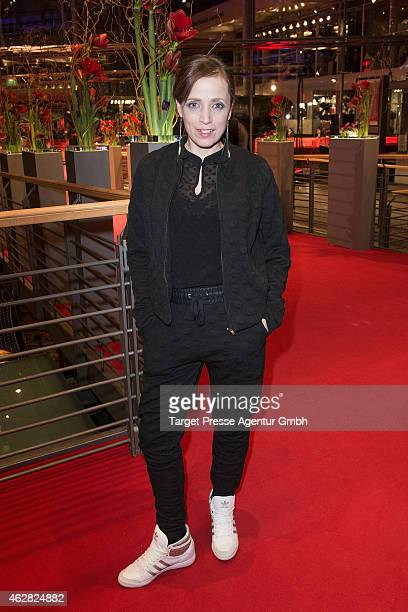 Anna Thalbach attends the opening party during the 65th Berlinale International Film Festival at Berlinale Palace on February 5, 2015 in Berlin,...