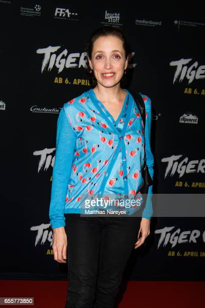 Anna Thalbach attends the premiere of the film 'Tiger Girl' at Zoo Palast on March 20, 2017 in Berlin, Germany.