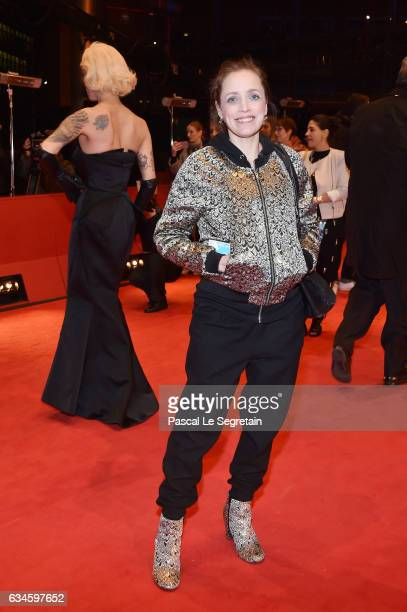 Anna Thalbach attends the 'T2 Trainspotting' premiere during the 67th Berlinale International Film Festival Berlin at Berlinale Palace on February...