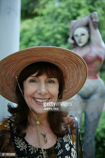 Anna Thea Bogdanovich attends Trigg Ison Fine art exhibit for the work of Maxine Kim StussyFrankel at her home June 28 2008 in Los Angeles California