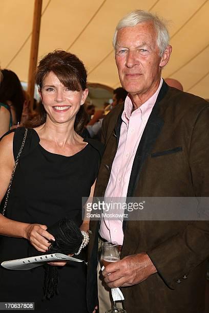 Anna Throne Holst and Dieter Von Lehsten attend the 'Dive Into Summer' Benefit at Wolffer Estate Vineyard on June 15 2013 in Sagaponack New York