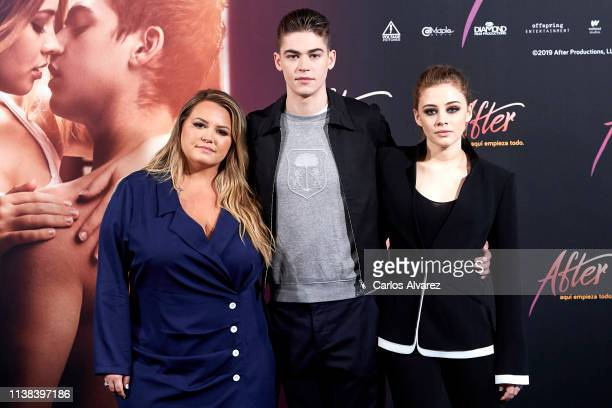 Anna Todd Josephine Langford and Hero Fiennes Tiffin attend 'After Aqui Empieza Todo' photocall at the VP Hotel on March 26 2019 in Madrid Spain