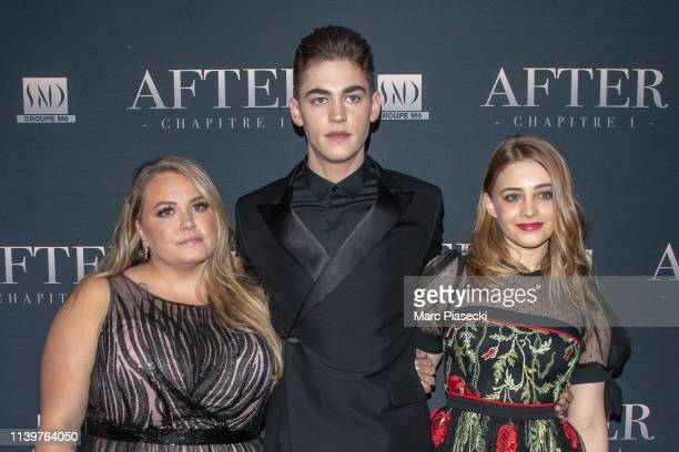 Anna Todd Josephine Langford and Hero FiennesTiffin attend the 'After' screening at Hotel Royal Monceau Raffle on April 01 2019 in Paris France