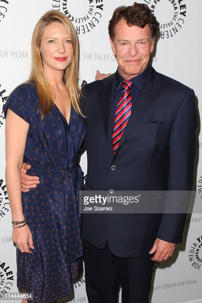 Anna Torv and John Noble arrive at The Paley Center for media presententation of 'Fringe' at The Paley Center for Media on May 19 2011 in Beverly...