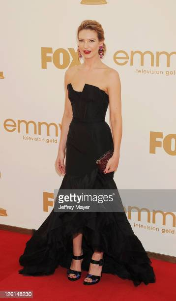 Anna Torv arrive at the 63rd Primetime Emmy Awards at the Nokia Theatre LA Live on September 18 2011 in Los Angeles California